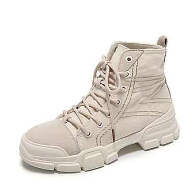 Women's Comfort Shoes Suede Fall & Winter Winter & Boots Flat Heel Beige / Army Green / Khaki ae083d