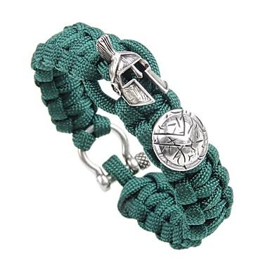 voordelige Herensieraden-Heren loom Bracelet Gevlochten Creatief Vintage Punk Rips Armband sieraden Goud / Zilver / Goud Rose Voor Straat Club