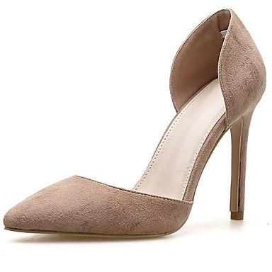 Women's Stiletto Pumps Synthetics Spring &  Fall Minimalism Heels Stiletto Women's Heel Black / Beige 602d97
