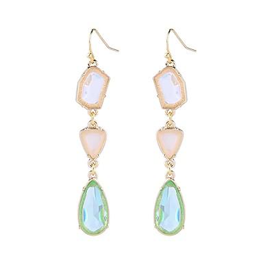 Women S Synthetic Sapphire Long Drop Earrings Ladies Stylish