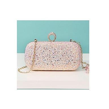 98e624f8a1 Γυναικεία Τσάντες Πολυεστέρας   PU Βραδινή τσάντα Κρυστάλλινη λεπτομέρεια   Γκλίτερ  Μαύρο   Ανθισμένο Ροζ   Βυσσινί