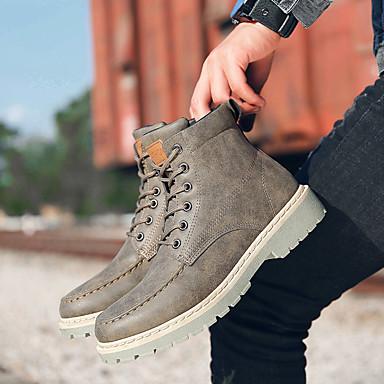Homme Chaussures de confort Polyuréthane Automne Décontracté Décontracté Décontracté Bottes Ne glisse pas Bottine / Demi Botte Gris / Marron / Rouge | Avec Une Réputation De Longue Date  b560a0