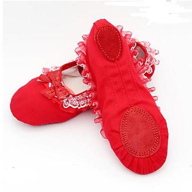 Obbediente Per Donna Scarpe Da Danza Classica Scamosciato - Di Corda Sneaker Tacco Spesso Scarpe Da Ballo Nero - Rosso #06937136