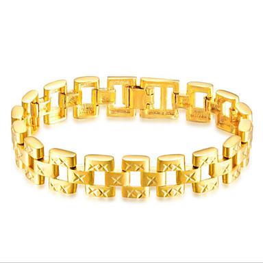 voordelige Herensieraden-Heren Armbanden met ketting en sluiting Stijlvol Creatief Casual / Sporty 18K Goud Armband sieraden Goud Voor Feest Dagelijks