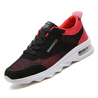 Men's Comfort Shoes Mesh Fall Sporty Athletic Shoes Walking Black Shoes Non-slipping Color Block Black Walking and White / Black / Red / Black / Green 10059b