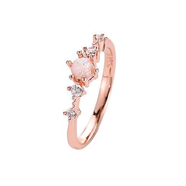 billige Motering-Dame Ring Tail Ring Krystall 1pc Hvit Grønn Rosa Messing Fuskediamant Sirkelformet damer Enkel Koreansk Daglig Ut på byen Smykker Klassisk Elegant Blomst Søtt
