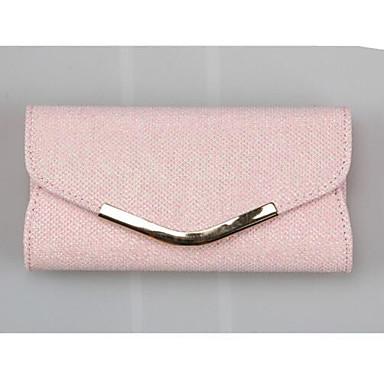 baratos Super Ofertas-Mulheres PU Bolsa de Mão Côr Sólida Rosa / Dourado