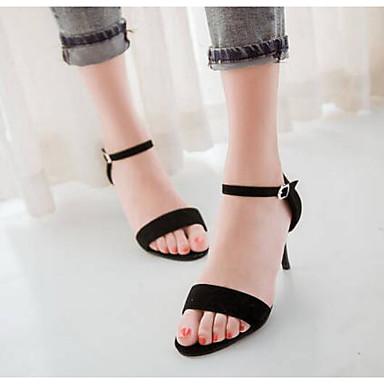 voordelige Damessandalen-Dames Sandalen Comfort schoenen Naaldhak PU Zomer Zwart / Paars / Groen