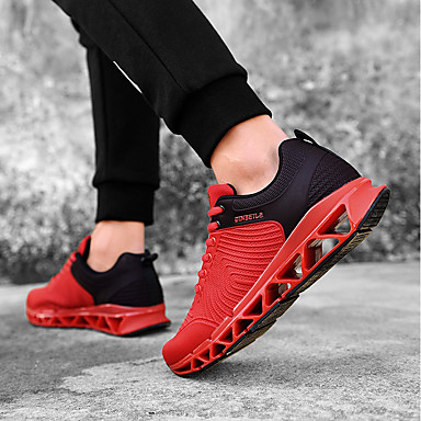 c41774f20 Men s Running Shoes Sneakers Racing Jogging Lightweight Anti-Shake    Damping Cushioning Breathable Mesh Black Red Black   Red   Wearproof