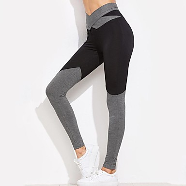 24ddfb16eb2fe Women's Bow Yoga Pants Sports Color Block Elastane High Rise Leggings Zumba  Running Fitness Activewear Breathable Soft Butt Lift Tummy Control High ...
