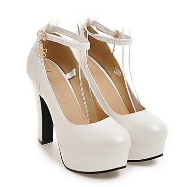 Kadın's Topuklular Konforlu Ayakkabılar Stiletto Topuk PU Bahar Siyah / Beyaz / Pembe / Günlük