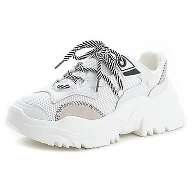 Amichevole Per Donna Scarpe Comfort Scamosciato Autunno Inverno Sneakers Piatto Bianco - Rosso #06952539