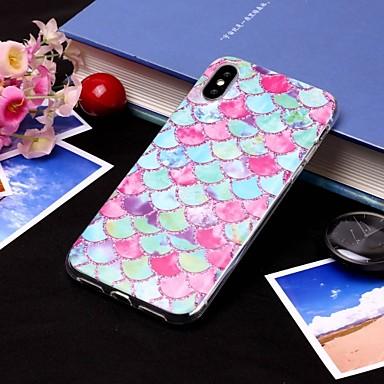 Θήκη Za Apple iPhone XS / iPhone XR / iPhone XS Max IMD / Translucent Stražnja maska Linije / valovi / Hrana Mekano TPU