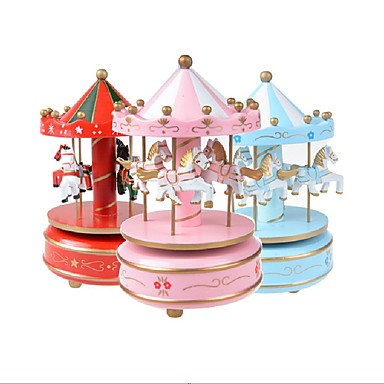 1PCS Beautiful Fantasy Carousel Music Toy Merry Go Round With Flash Light Birthday Christmas Gift Kids Toys For Children Random Color 6969570 2019 1869