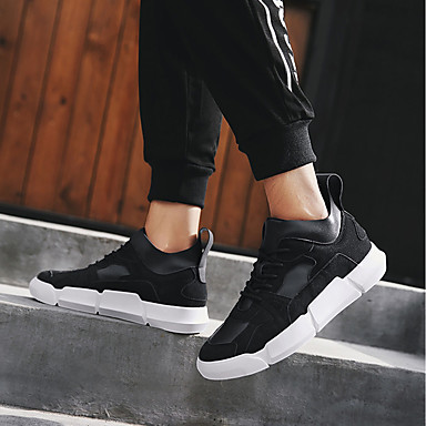 Homme Chaussures Chaussures Chaussures de confort Polyuréthane Automne Basket Blanc / Noir / Rouge | Convivial  2aac6b