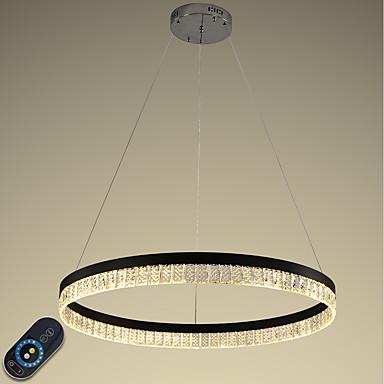 VALLKIN Cirkularno Lusteri Ambient Light Electroplated Slikano završi Metal Crystal, Prilagodljiv, Zatamnjen 110-120V / 220-240V Zatamnjen daljinskim upravljačem