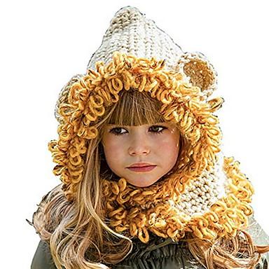 povoljno Djeca Kape i šeširi-Djeca Djevojčice slatko Color block Pamuk Kape i šeširi Obala / Bijela One-Size