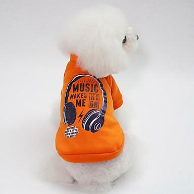 Psi Sportska majica Odjeća za psa Lik Plava Pink Tamno zelena Pamuk Kostim Za Buldog Shiba Inu Mops (Pug) Jesen Zima Uniseks Ležerno / za svaki dan Grijači