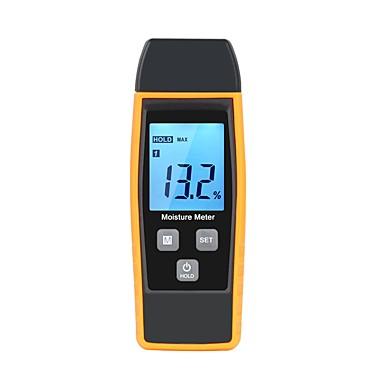 voordelige Test-, meet- & inspectieapparatuur-rz professionele hout vocht vochtigheidsmeter digitale tester 0% ~ 80% twee pins groot lcd-scherm met achtergrondverlichting temperatuur rz660