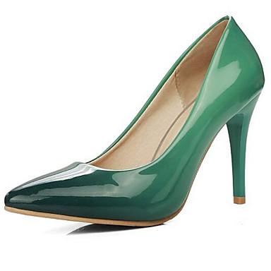 976a95e3b65 Mulheres Sapatos Confortáveis Couro Ecológico Inverno Saltos Salto Agulha  Vermelho   Verde   Azul   Diário