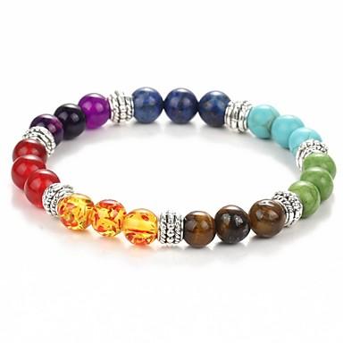 voordelige Armband-Dames Retro kathedraal Kralenarmband Dames Birthstones Geboortestenen Genezing Armbanden Sieraden Regenboog Voor Dagelijks Carnaval
