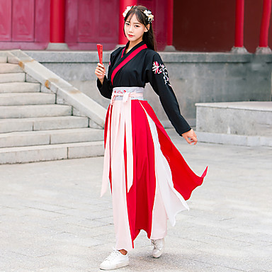 109e06d3b Dance Costumes Hanfu Women's Training / Performance Cotton Embroidery Long  Sleeve Skirts / Top / Belt