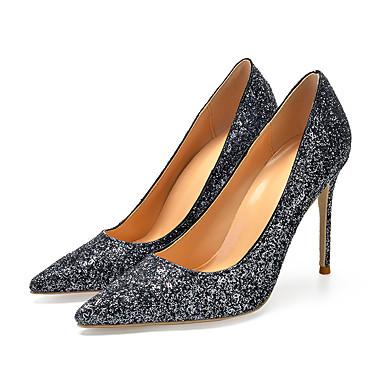 Women s Pumps Patent Leather Spring   Fall British   Minimalism Heels  Stiletto Heel Pointed Toe Black e1c1750db