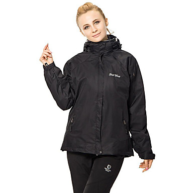 Women's Hiking 3-in-1 Jackets outdoor Spring Fall Winter Windproof Waterproof Fleece Lining Thermal / Warm Hiking Jackets Camping & Hiking Apparel & Accessories Activewear Terylene Coverall Skiing