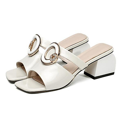 19474c866978 Mujer Sandalias Zapatos Confort Tacón Cuadrado Cuero de Napa Verano ...