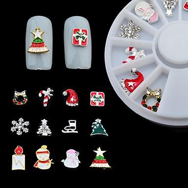 1 Pcs Interfaccia 3d - Classico Lega Di Metallo Gioielli Per Unghie Per Unghia Della Mano Vacanza Fiaba Manicure Manicure Pedicure Natale - Quotidiano Cartone Animato - Etnico #06968548