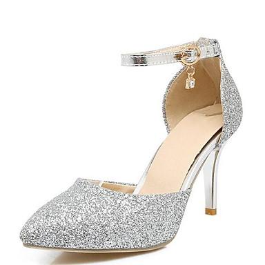 voordelige Dameshakken-Dames Hoge hakken Comfort schoenen Naaldhak PU Zomer Goud / Zilver / Roze / Bruiloft / Dagelijks