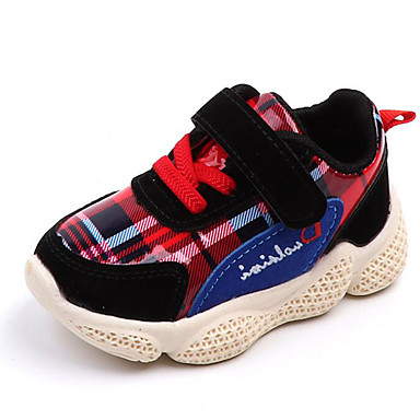 baratos Sapatos de Criança-Para Meninos / Para Meninas Couro Ecológico Tênis Criança (9m-4ys) Conforto Elástico / Velcro Cinzento / Amarelo / Vermelho Outono & inverno / Borracha de Poliéster