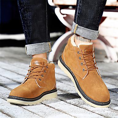 Homme Chaussures de confort Daim Daim Daim Hiver Classique / British Bottes Garder au chaud Noir / Bleu de minuit / Jaune f3f760