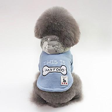 Psi Kaputi Odjeća za psa Lik Kost Slogan Crvena Plava Pliš Kostim Za Buldog Shiba Inu Mops (Pug) Jesen Zima Uniseks Ležerno / za svaki dan Grijači