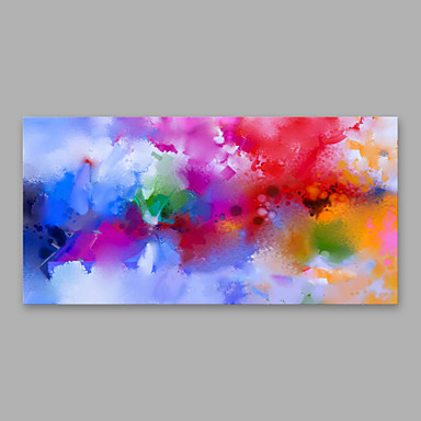 Hang oslikana uljanim bojama Ručno oslikana - Sažetak Moderna Uključi Unutarnji okvir / Prošireni platno