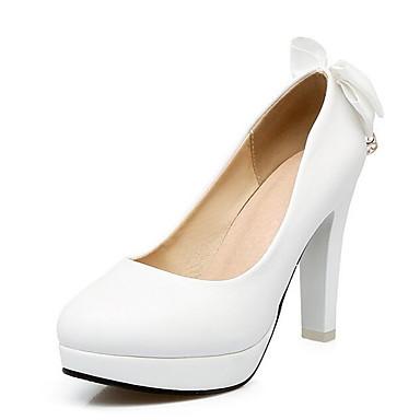 voordelige Dameshakken-Dames Comfort schoenen PU Lente Hoge hakken Naaldhak Wit / Zwart / Roze / Bruiloft / Dagelijks
