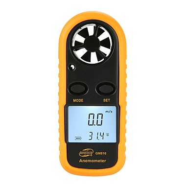 cheap Test, Measure & Inspection Equipment-BENETECH GM816 Digital Anemometer Thermometer Wind Speed Air Velocity Airflow Temperature Gauge Windmeter with LCD Backlight