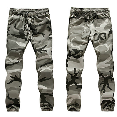 d09de9ab88488 Men s Pocket Jogger Pants Running Pants Army Green Grey Sports Camo    Camouflage Sweatpants Bottoms Fitness