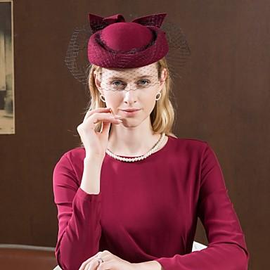 100% Ull Kentucky Derby Hat / Hatter med Sløyfe 1pc Avslappet / Dagligdagstøy Hodeplagg