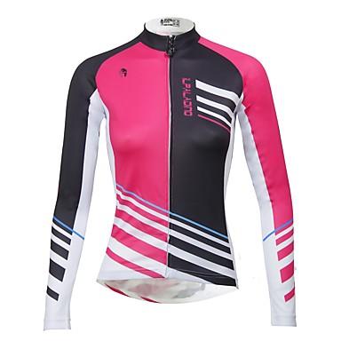 c1540337a ILPALADINO Women s Long Sleeve Cycling Jersey - Fuchsia Bike Jersey Top  Thermal   Warm Fleece Lining