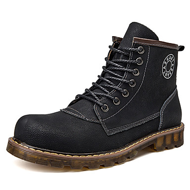 Muškarci Udobne cipele Koža Jesen zima Ležerne prilike Čizme Čizme gležnjače / do gležnja Crn / Zakovica / Vojničke čizme