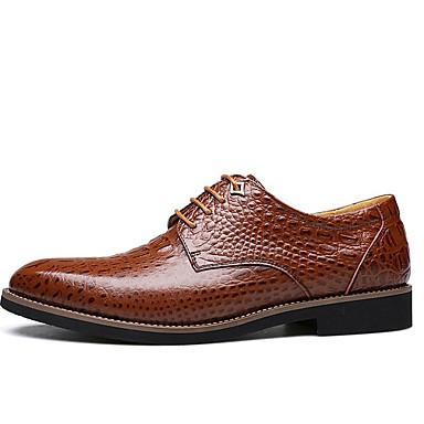 Homme Chaussures en cuir cuir cuir Cuir Automne Business / British Oxfords Garder au chaud Noir / Marron | Digne  419a58