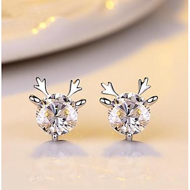 Žene Kubični Zirconia Sitne naušnice 3D Los dame Stilski Klasik Naušnice Jewelry Pink Za Božić Dnevno 1 par