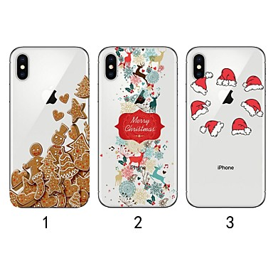 4f79c081c7e Case For Apple iPhone XR   iPhone XS Max Ultra-thin   Transparent   Pattern Back  Cover Christmas Soft TPU for iPhone XS   iPhone XR   iPhone XS Max 6976213  ...
