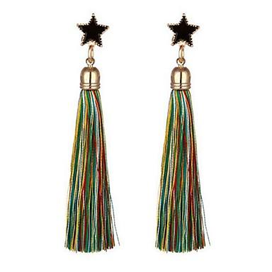 Žene Viseće naušnice Rese Csillag dame Jednostavan Kićanka Naušnice Jewelry Plava / Light Pink / Svijetlo zelena Za Dnevno 1 par