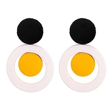billige Moteøreringer-Dame Dråpeøreringer Klassisk damer Enkel Europeisk Mote Tre øredobber Smykker Hvit / Lys Lilla / Grønn Til Avslappet Daglig 1 par