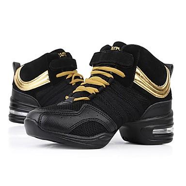 Buono Per Donna Sneakers Da Danza Moderna Retato Sneaker A Fantasia Piatto Personalizzabile Scarpe Da Ballo Nero E Oro #06966413