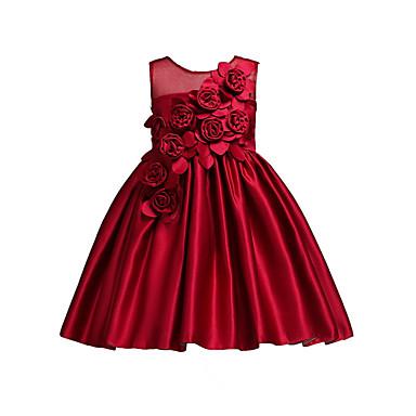 זול תינוק & ילדים-שמלה ללא שרוולים אחיד מתוק בנות ילדים