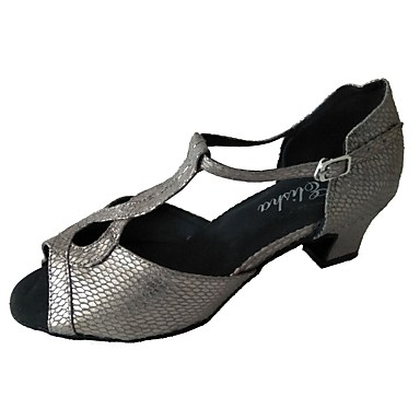 Žene Plesne cipele Sintetika Cipele za latino plesove Sandale Debela peta Sive boje