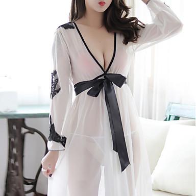 Žene Super seksi Odijelo Noćno rublje - Čipka Color block Obala Svjetlosmeđ One-Size / Duboki V